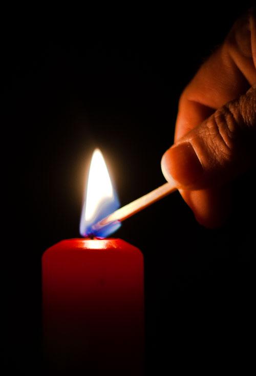 Blackout-Kerzenlicht